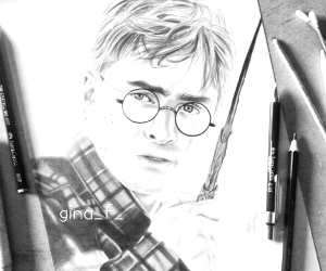 Harry Potter drawing by Gina Friderici