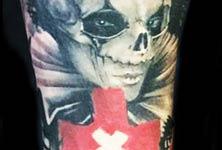 Rabit mask tattoo by Ivan Trapiani