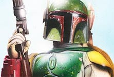 Boba Fett drawing by Jonathan Knight Art