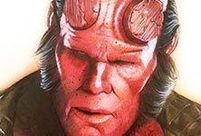 HellBoy drawing by Jonathan Knight Art