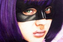 Hit girl from Kick Ass painting by Jonathan Knight Art
