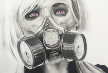 The Fallout drawing by Jonathan Knight Art