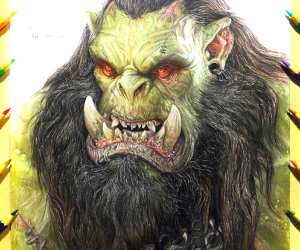 Thrall pencil drawing by Kristopher Lambertin