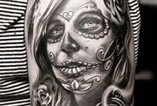 Muerte time tattoo by Led Coult