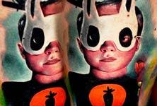 Mask Boy tattoo by Lehel Nyeste