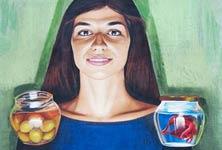 Portrait of Maja streetart by Lonac Art