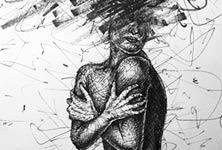 Open your mind marker drawing by Lukas Lukero Art
