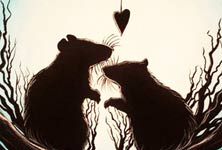 Everywhere blossoming love painting by Mirik Bodliak