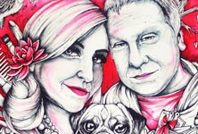 Marriage drawing by Mirik Bodliak
