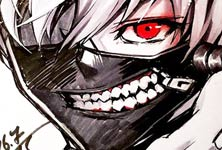 Tokyo Ghoul sketch drawing by Naschi Art