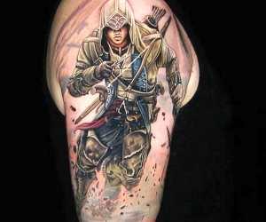 Assassins Creed tattoo by Nikko Hurtado
