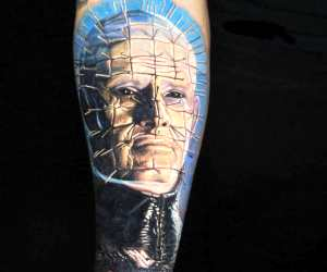 Hellraiser tattoo by Nikko Hurtado