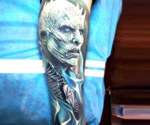 Night King tattoo by Nikko Hurtado