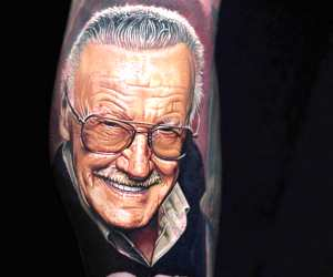 Stan Lee tattoo by Nikko Hurtado