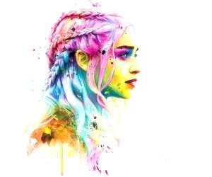 Daenerys Targaryen mixedmedia by Patrice Murciano