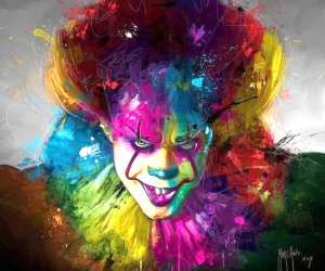 Pennywise mixedmedia by Patrice Murciano