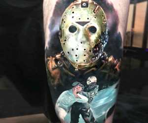 Friday the 13th tattoo by Paul Acker
