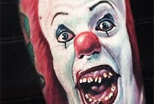 Pennywise tattoo by Paul Acker