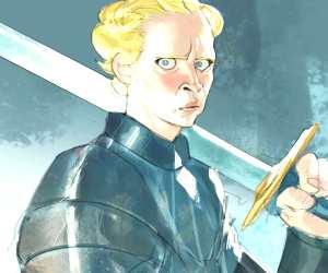 Brienne of Tarth painting by Ramon Nunez