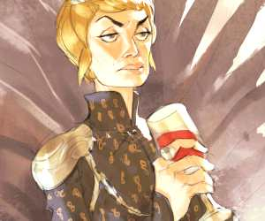 Cersei Lannister digitalart by Ramon Nunez