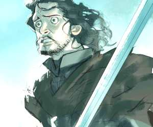 Jon Snow digitalart by Ramon Nunez