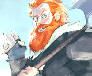 Tormund digitalart by Ramon Nunez