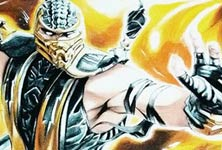 Scorpion from Mortal Kombat color drawing by Roberto Vieira