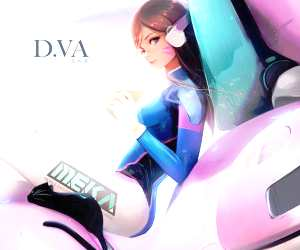 D.Va digitalart by Ross Draws