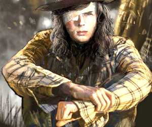 Carl Grimes digital painting by Rudy Nurdiawan