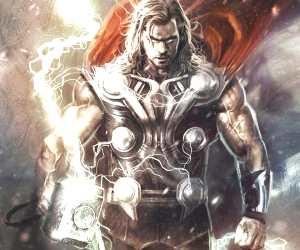 Thor drawing by Rudy Nurdiawan