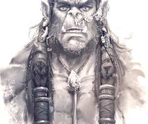Warcraft Hanoman drawing by Rudy Nurdiawan
