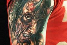 Devil in me tattoo by Sergey Shanko