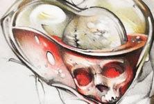 Skull Card Design sketch drawing by Sergey Shanko