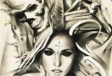 Soul Reaper sketch drawing by Sergey Shanko