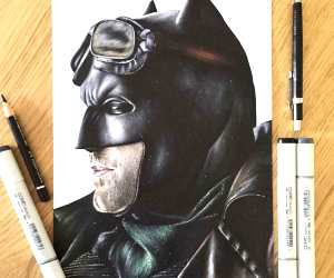 Batman drawing by Stephen Ward