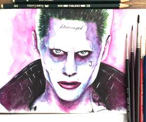 The Joker painting by Stephen Ward