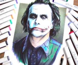 The Joker drawing by Stephen Ward