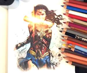 Wonder Woman color drawing by The Illestrator