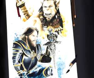 Lothar and Durotan pencil drawing by Tom Chanth Art