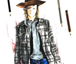 Carl Grimes drawing by Tom Chanth Art