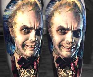 Beetlejuice tattoo by Valentina Ryabova