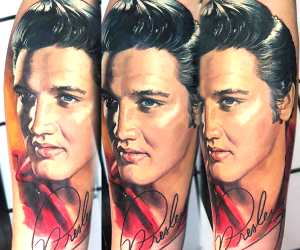 Elvis Presley tattoo by Valentina Ryabova