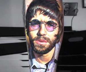 Liam Gallagher tattoo by Valentina Ryabova