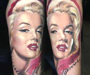 Marilyn Monroe tattoo by Valentina Ryabova