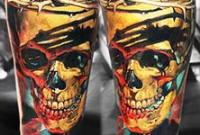 Skull tattoo by Valentina Ryabova