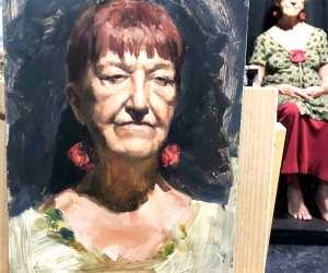Woman portrait painting by Valentina Ryabova